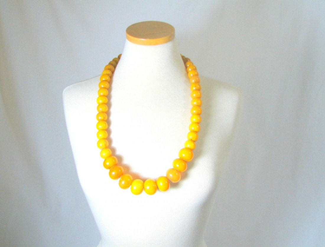 12: Baltic Amber Beaded Necklace