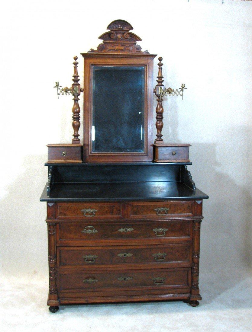 16: Victorian Dresser With Granite Countertop