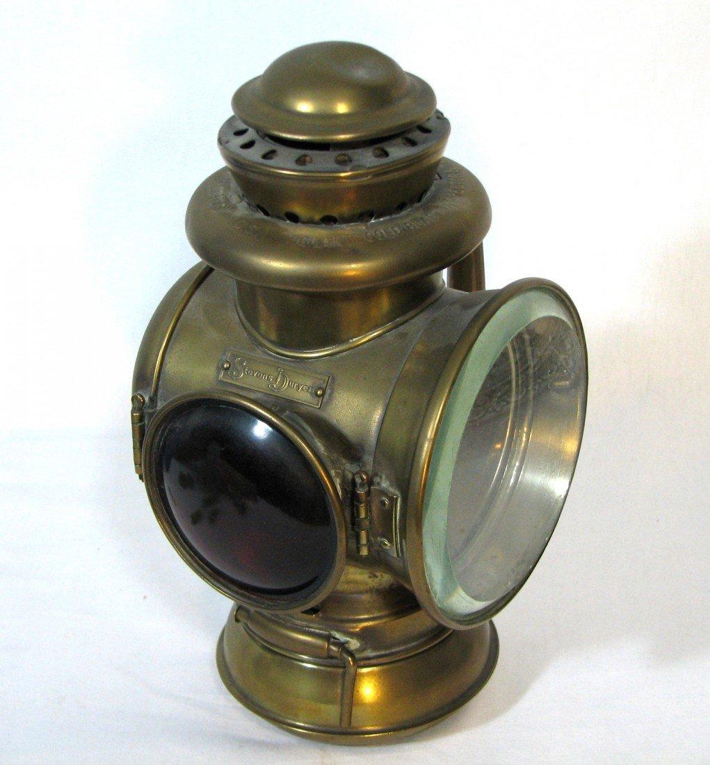 17: Antique Stevens Duryea Tail Light, Solid Brass
