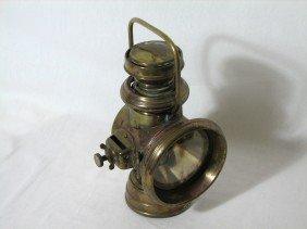18: Antique Duco Head Lamp, Head Light, Solid Brass