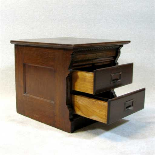 - 22: Antique File Cabinet By Wabash Cabinet Co