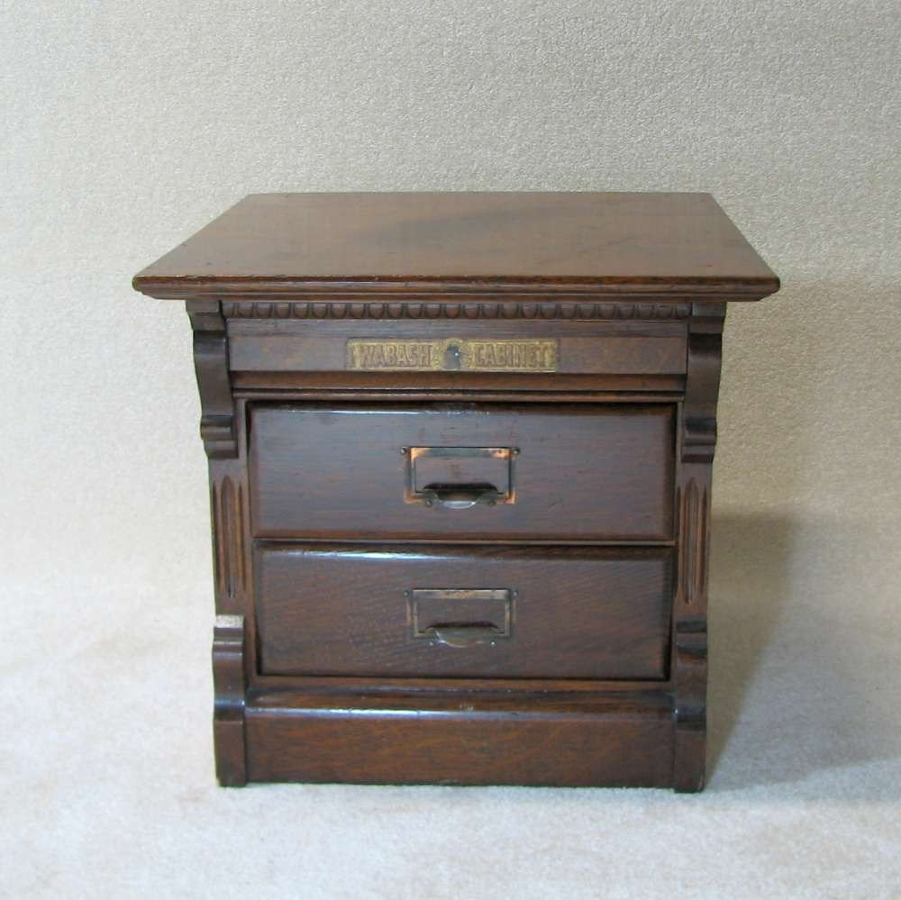 22: Antique File Cabinet by Wabash Cabinet Co - 2