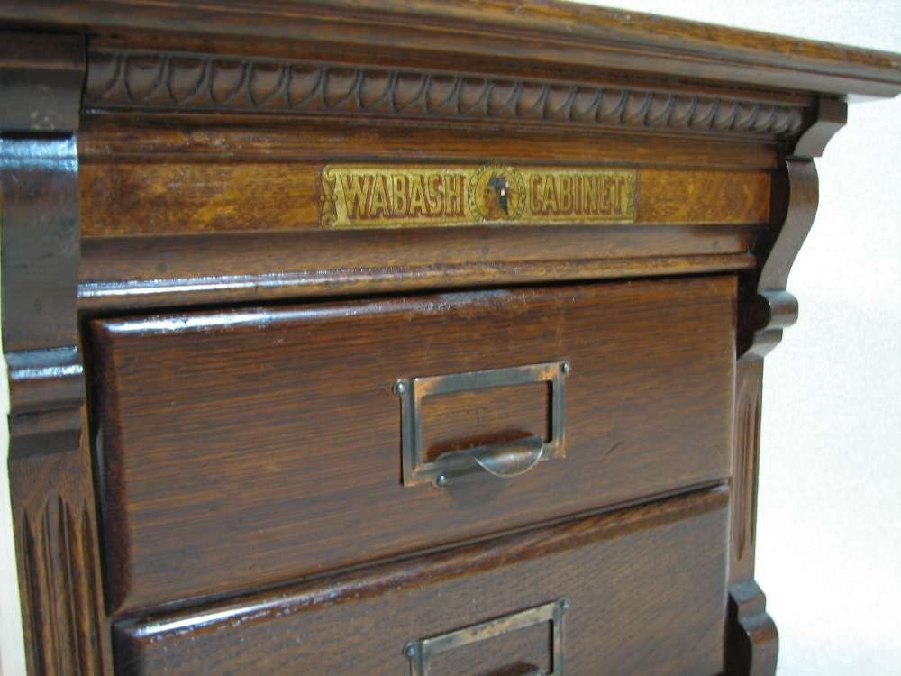 22: Antique File Cabinet by Wabash Cabinet Co - 3