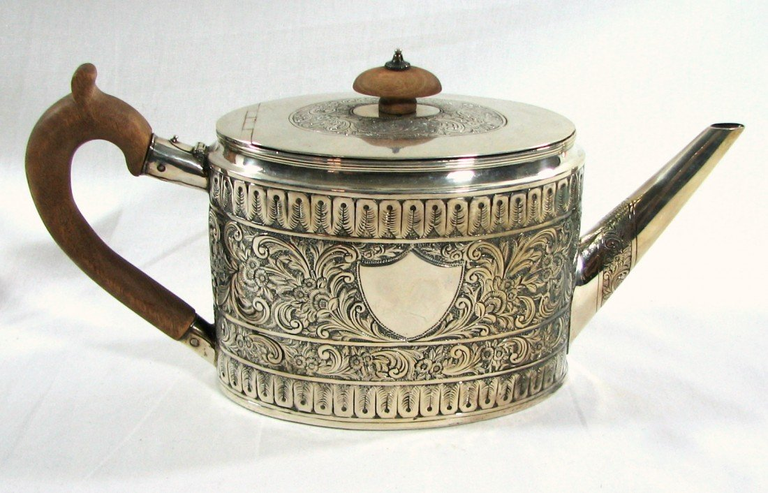 115: 18th Cent English Sterling Teapot Fogelberg Gilber