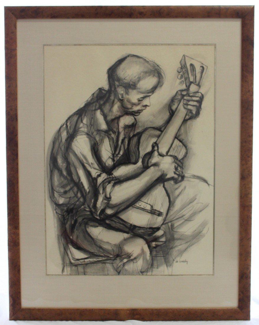 128: Guitar Player Charcoal Francis De Erdely