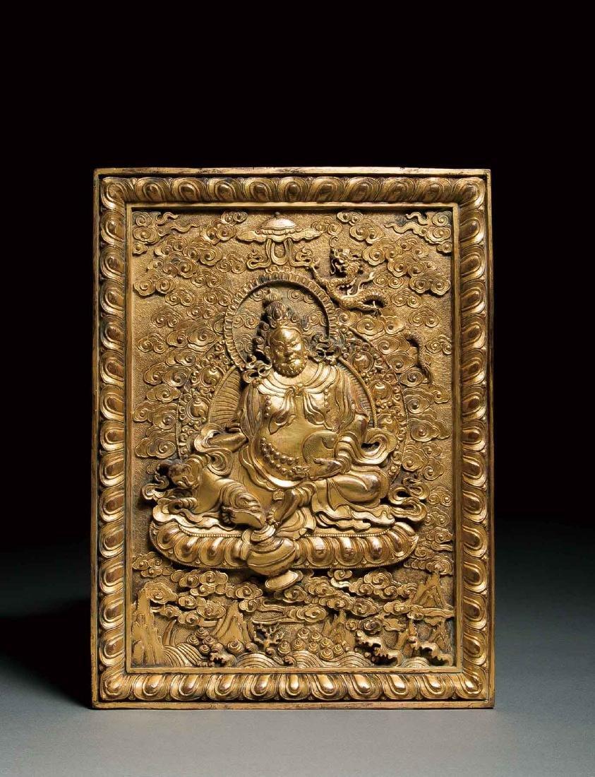 A Gilt-Bronze Buddha,Qing Dynasty