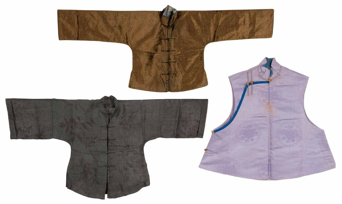 Two Embroidered Silk Coats And A Underclothe For Boy