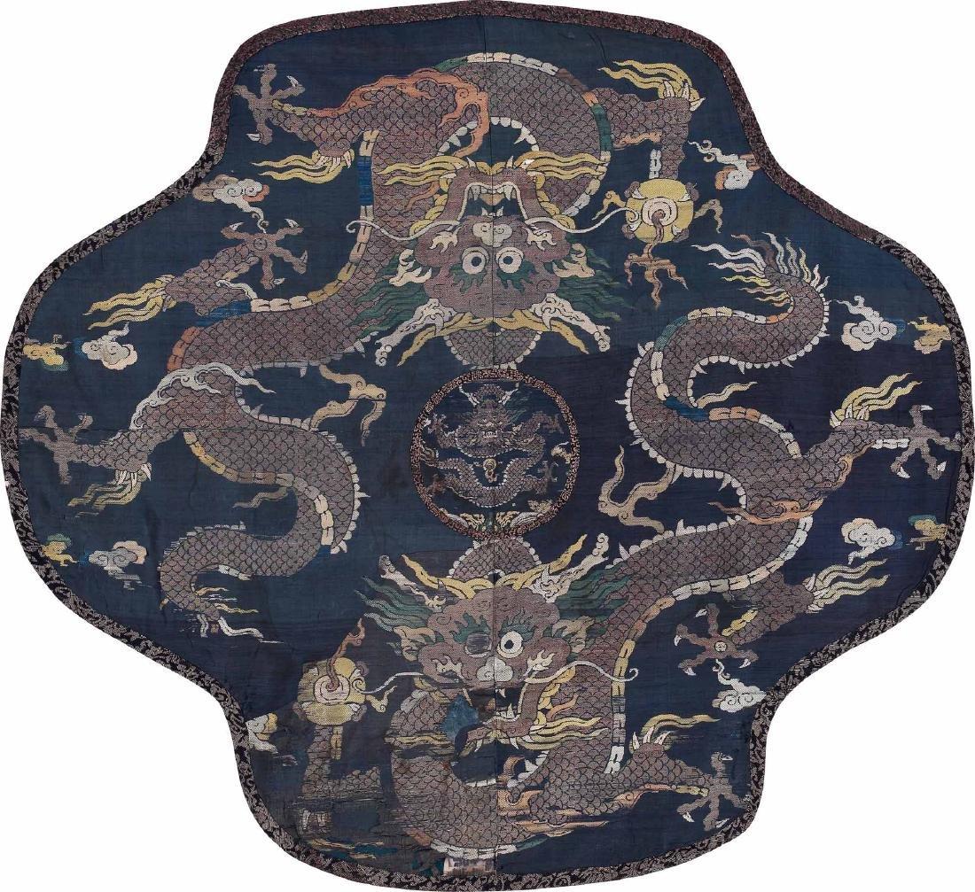 An Embroidered Silk 'Dragon' Panel