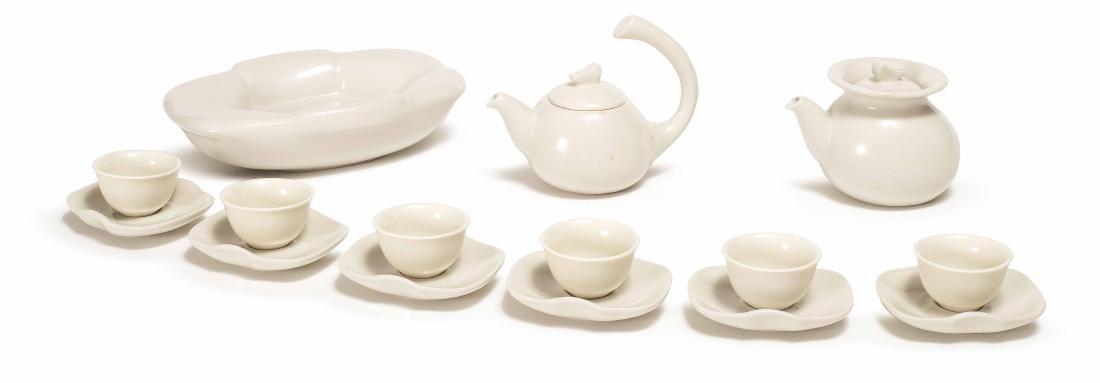 """A XIAOFANG KILN """"LU YU"""" MARKED TEA SET"""