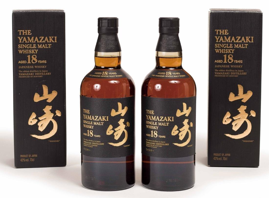 TWO BOTTLES OF YAMASSAKI 18 WHISKEY