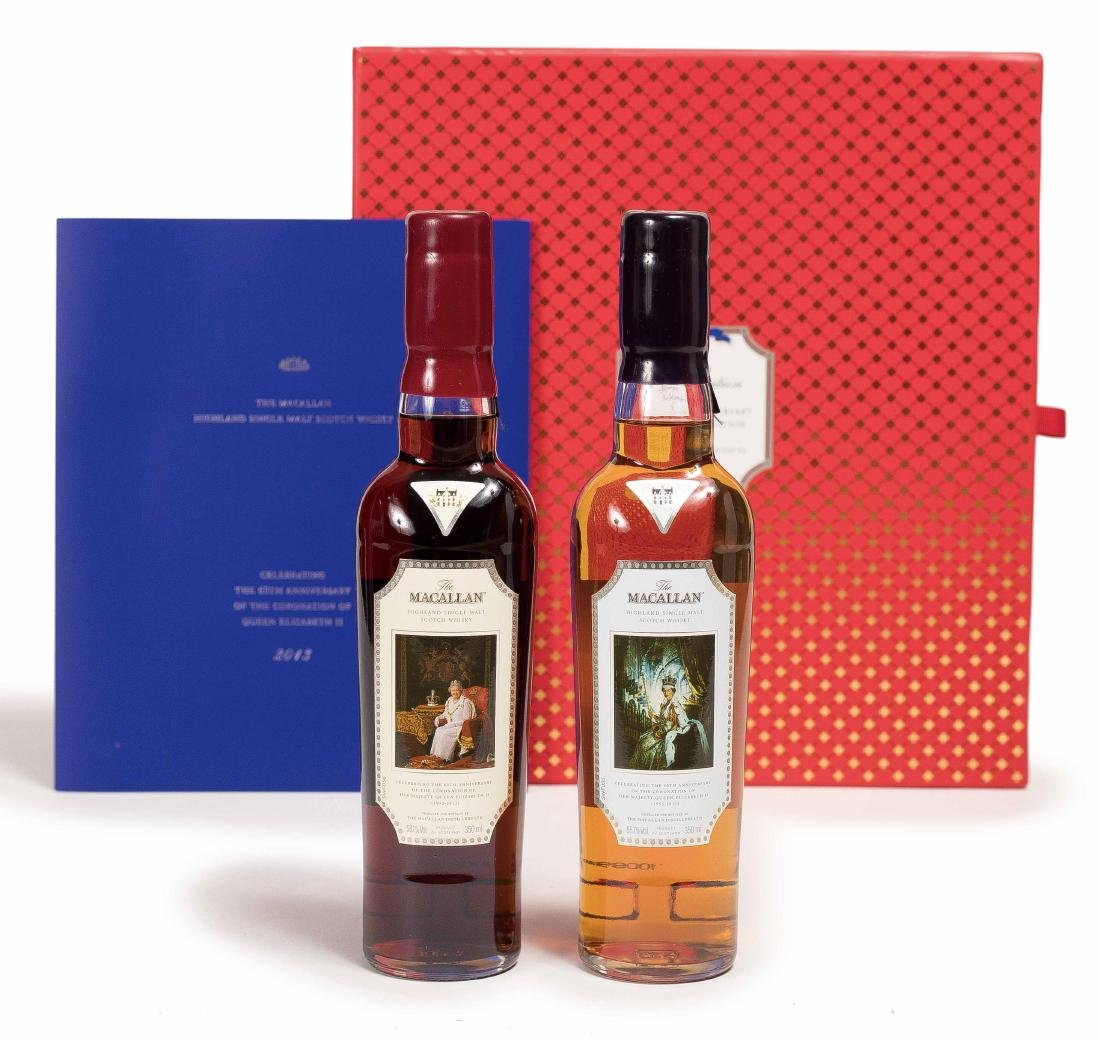 "TWO BOTTLES OF ""HER MAJESTY THE QUEEN OF BRITAIN"" 60TH"