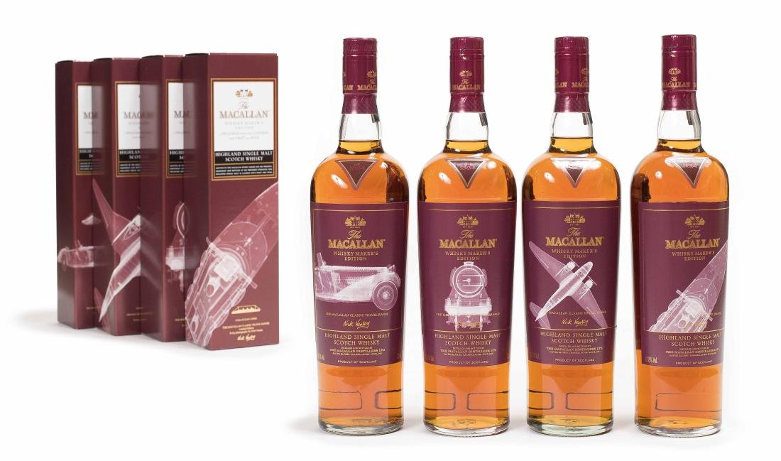 FOUR BOTTLES OF MACALLAN THE 1824 COLLECTION WHISKEY