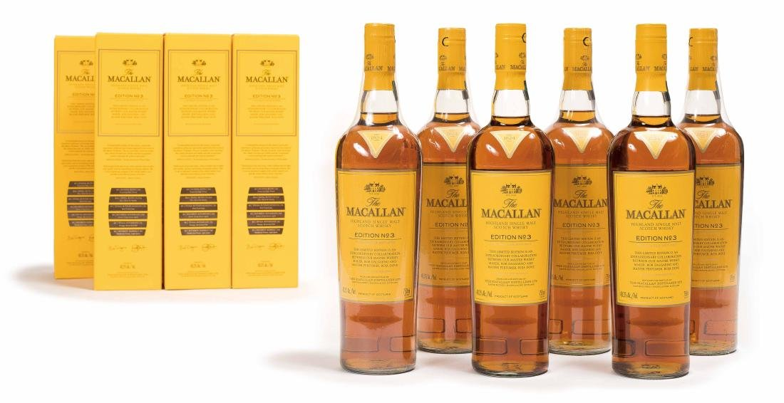 SIX BOTTLES OF EDITION NO.3 MACALLAN WHISKEY