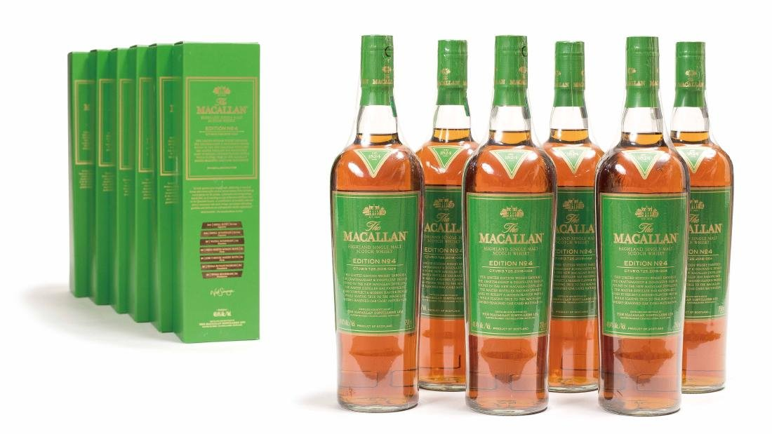 SIX BOTTLES OF EDITION NO.4 MACALLAN WHISKEY