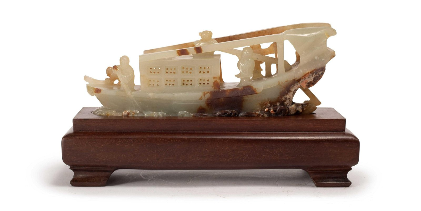 A FINE WHITE JADE DECORATION, QING DYNASTY