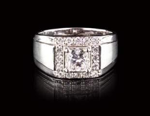 A 1.0 CT GIA DIAMOND RING 18K GOLD