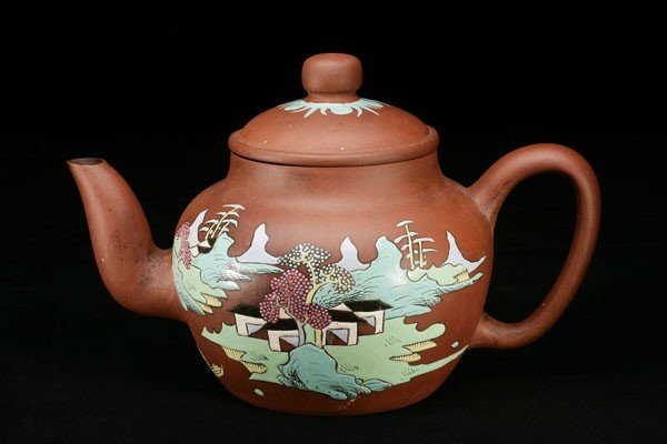 5: Color-Glazed Zisha Teapot