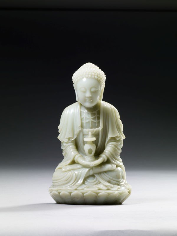 31:White Jade Carved Figure of Sakyamuni