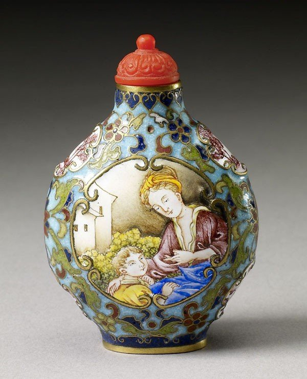 73: Cloisonne Enamel Sunff Bottle