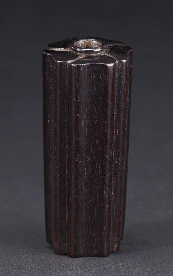 1: A Zitan Lobed Incenser Holder