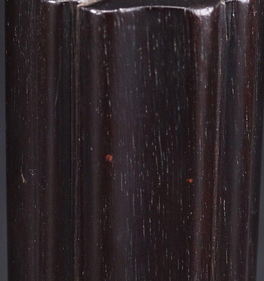1: A Zitan Lobed Incenser Holder - 3