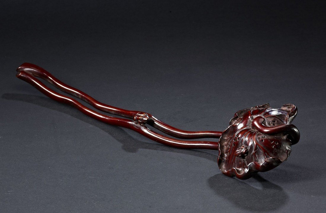 2: A Carved Huang Yang Wood Ruyi Sceptre