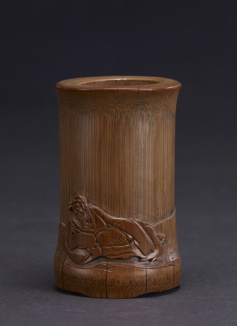 4: A Carved Bamboo Brushpot