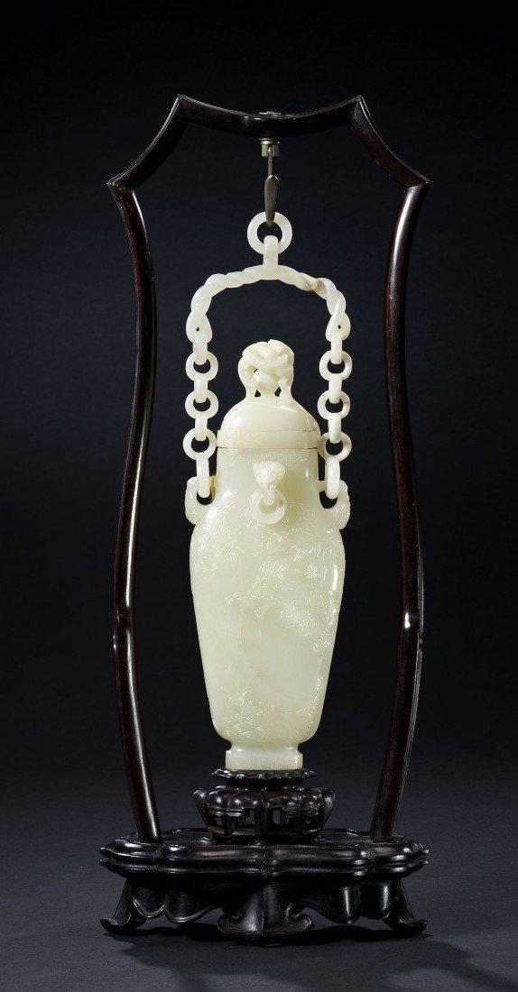14: A Rare and Fine White Jade Vase