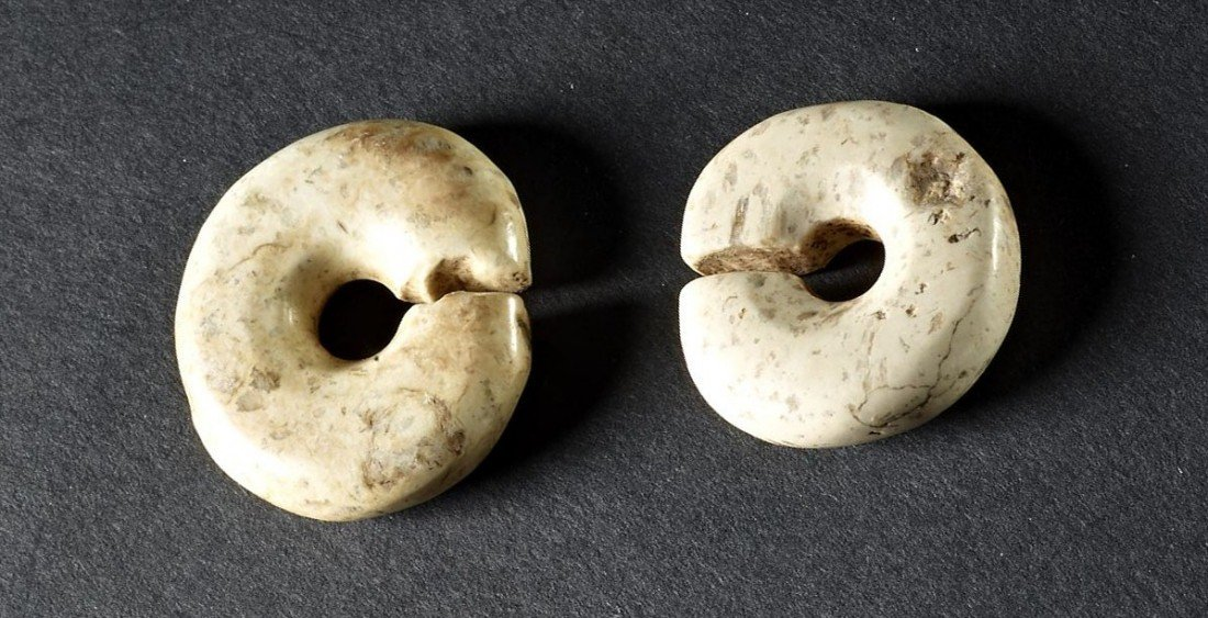 20: A Pair of Archaic Jade Slit Disk