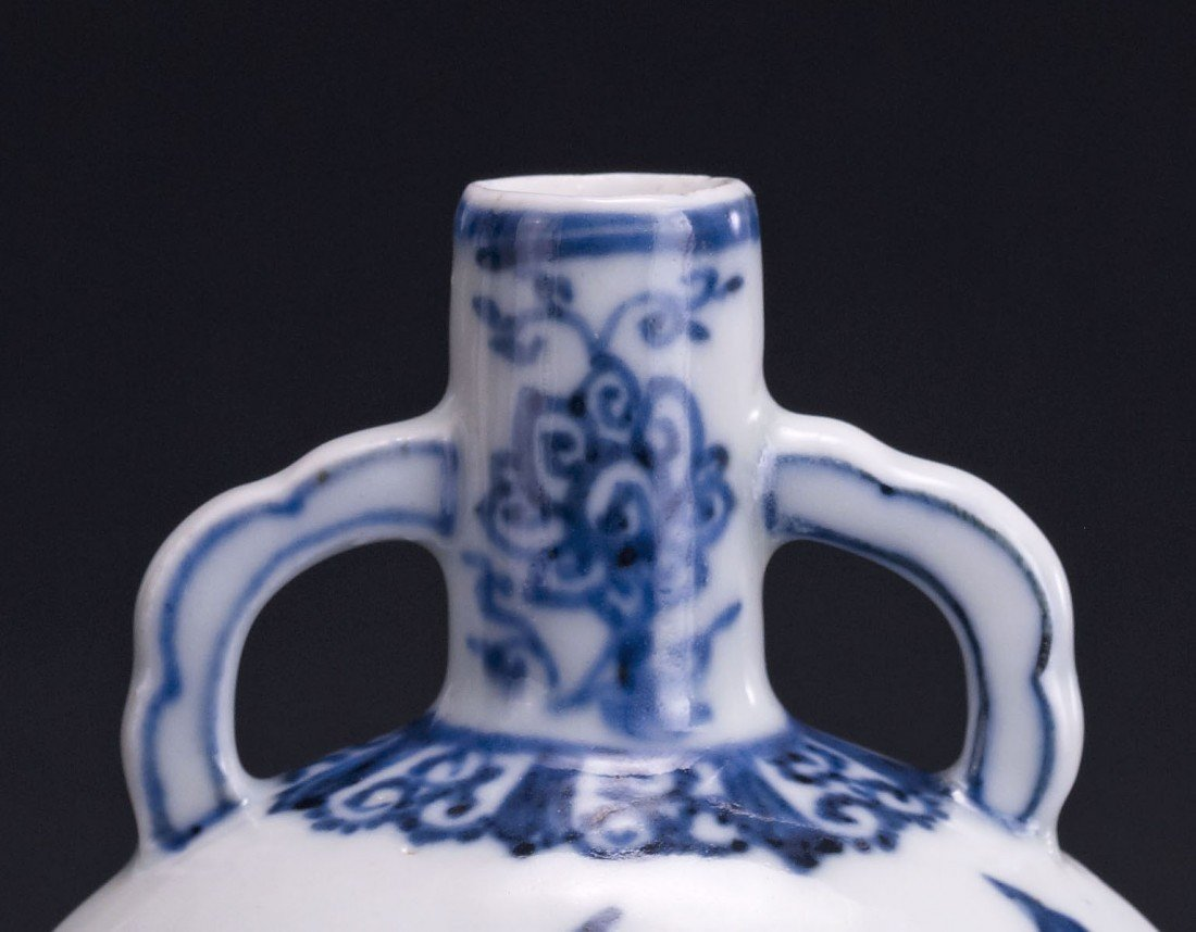 34: A Blue and White Moonflask - 2