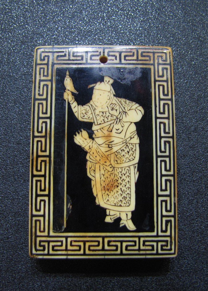 198: A Delicately Carved Ivory Plaque