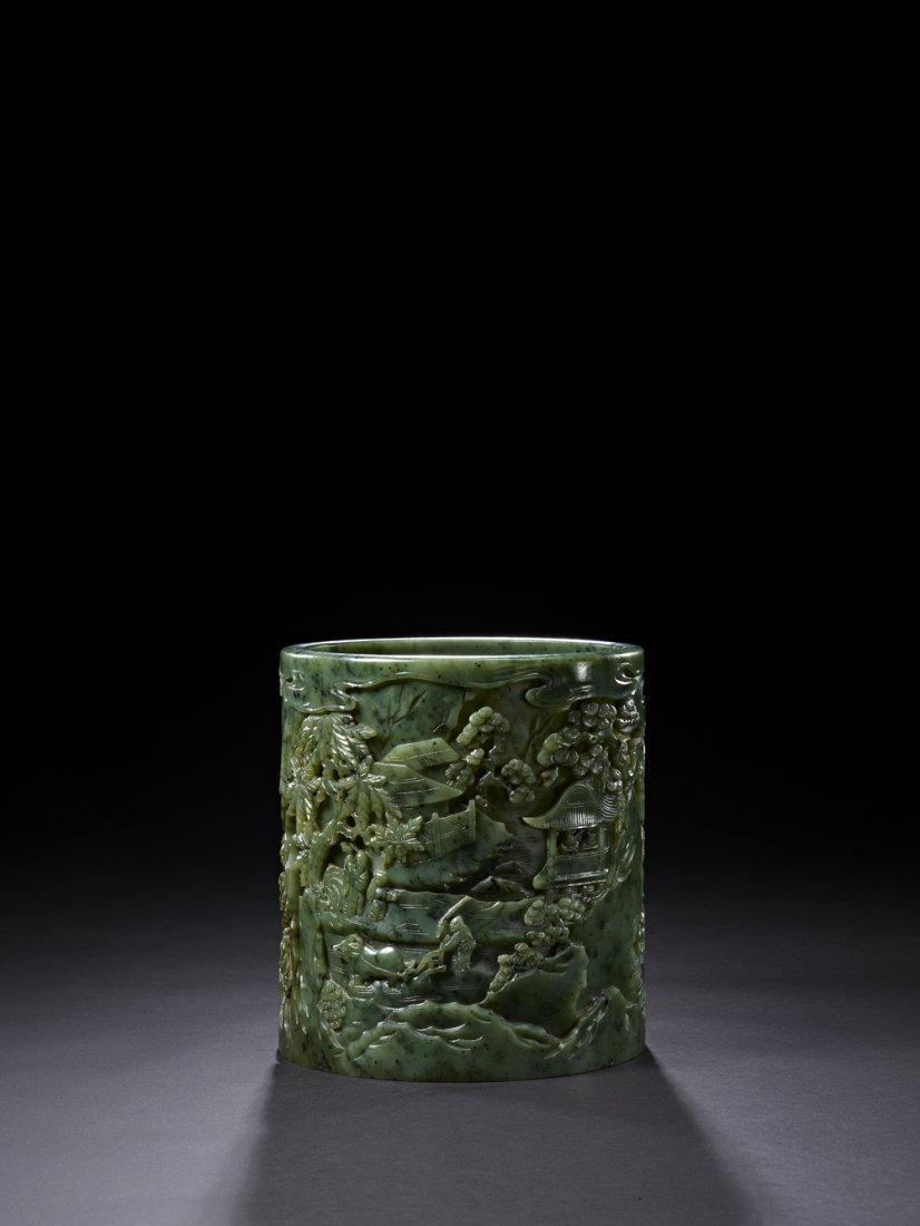 9: An Outstanding Jasper Brushpot, Bitong