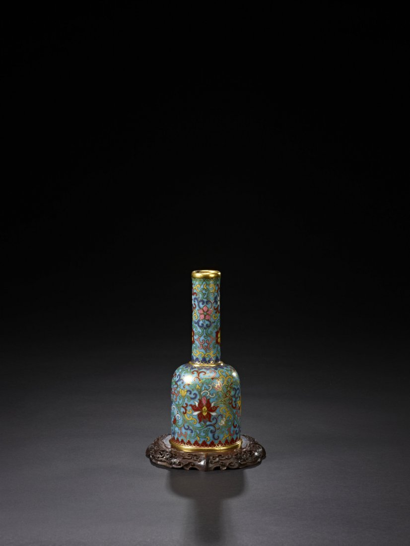 13: An Unusual Cloisonne Enamel Vase, Zun