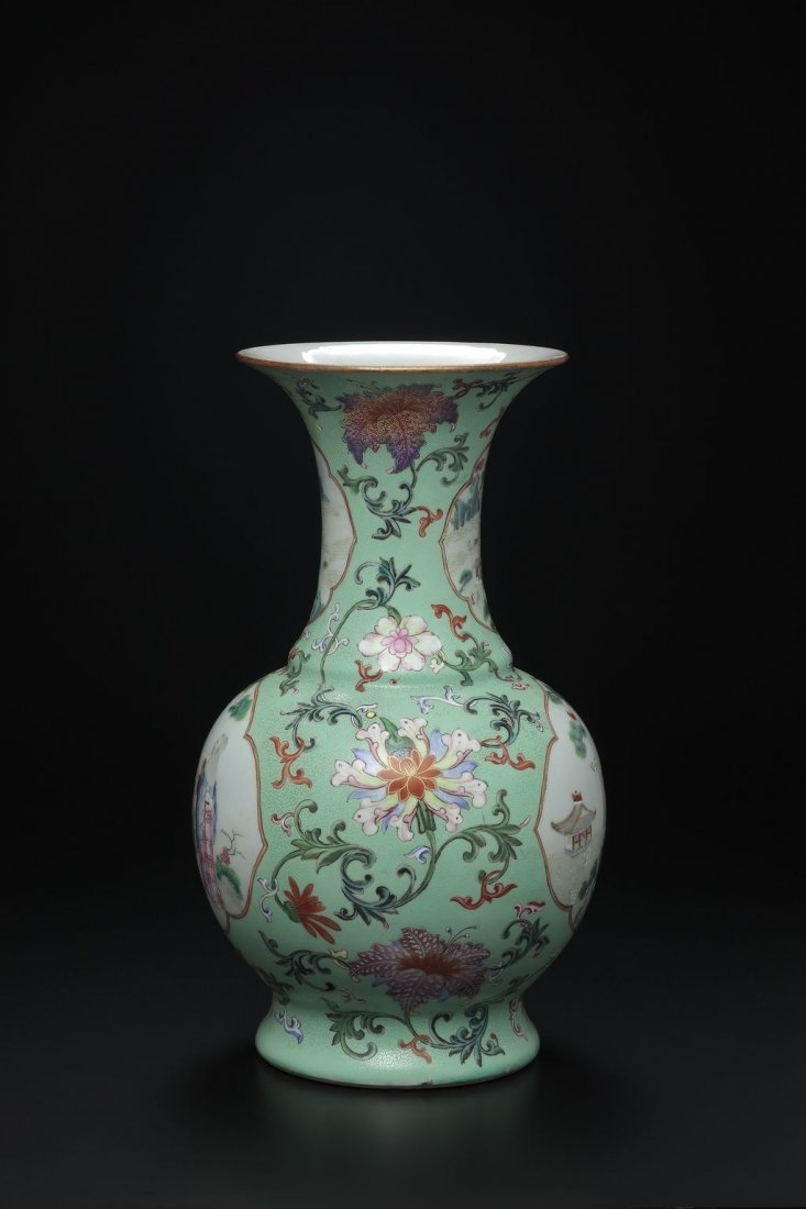 A FAMILLE-ROSE VASE, QIANLONG SIX-CHARACTER MARK AND OF - 2