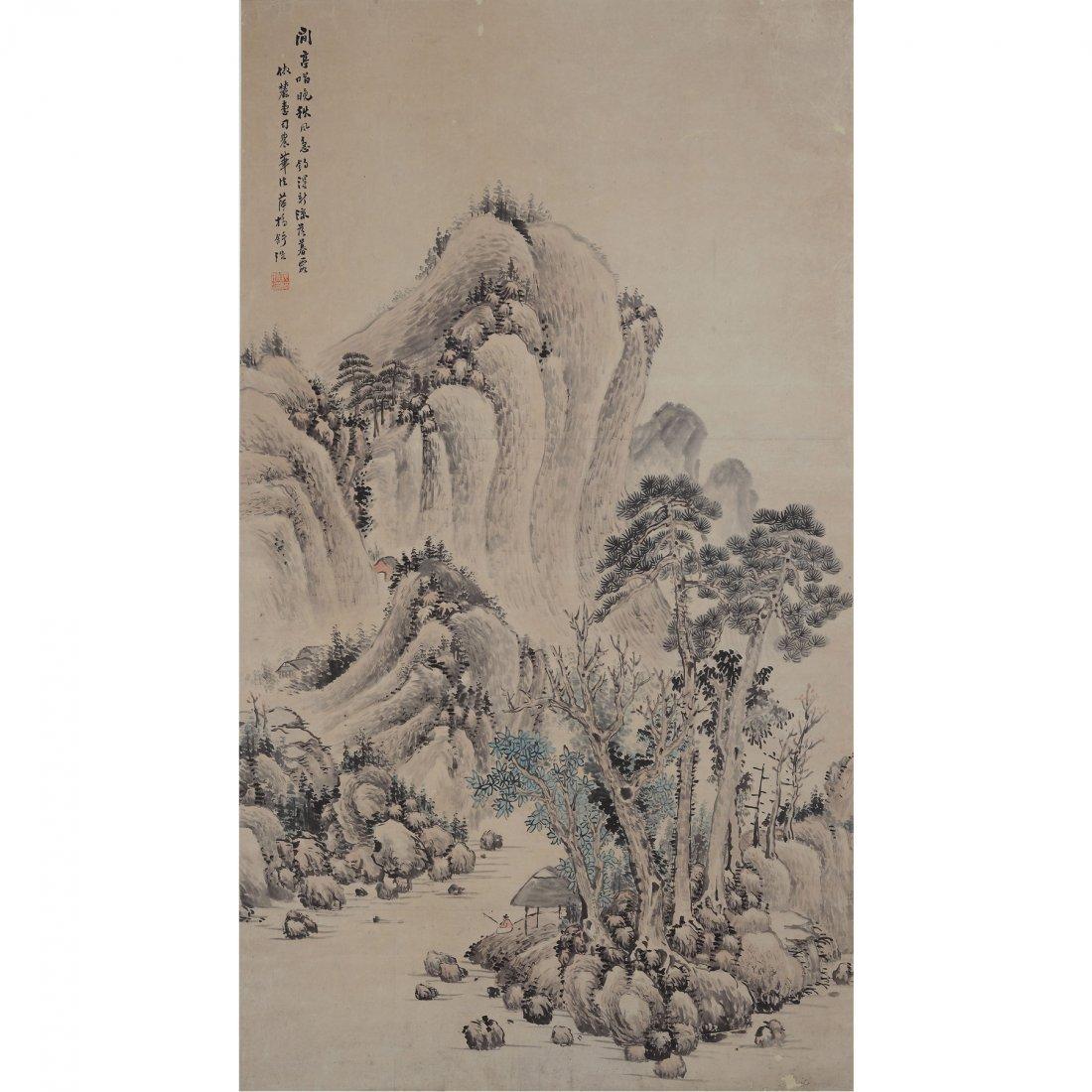 LANDSCAPE BY SHU HAO (1841-1901)