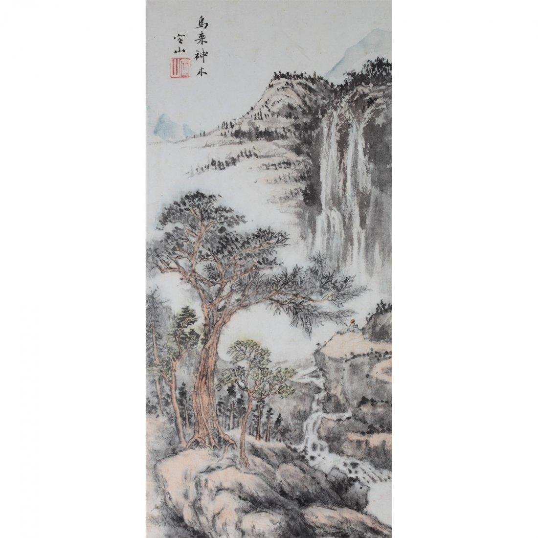 THE SACRED TREE IN WULAI BY CHENG DINGSHAN (1897-1987)