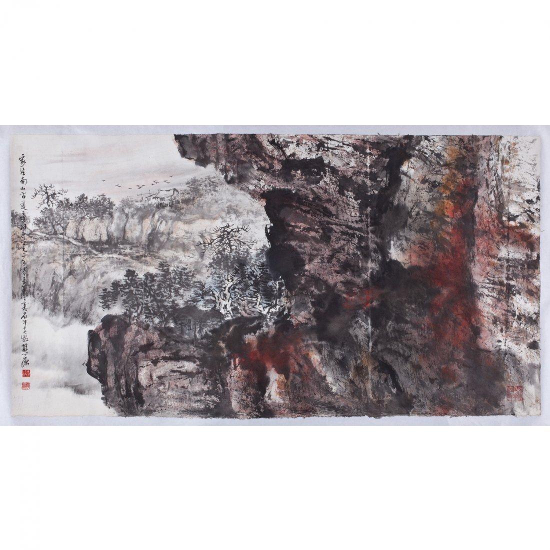 MOUNTAIN BY HU NIANZU (1927- )