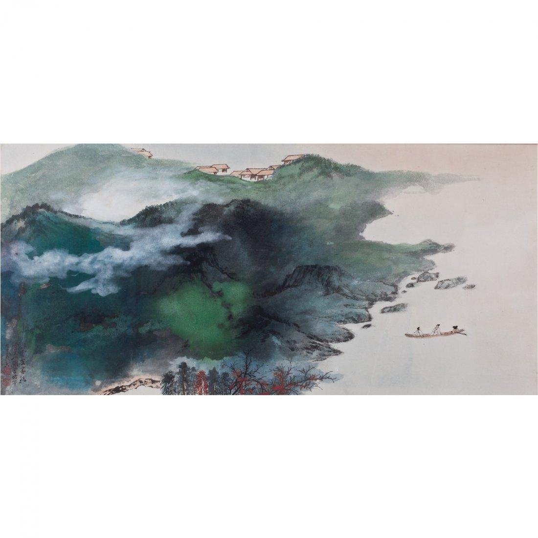 LANDSCAPE BY SUN YUNSHENG (1918-2000)