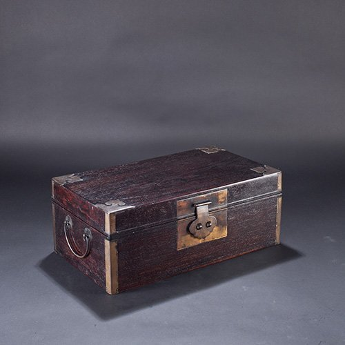 A ZITAN WOOD BOX AND COVER