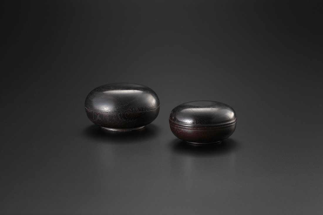 A PAIR OF ZITAN INCENSE BOXES AND COVERS