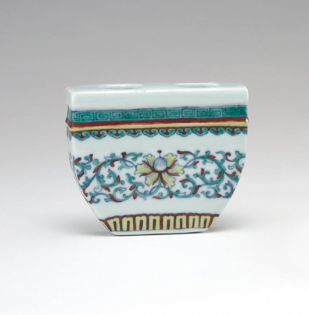 A Doucai Wall Vase, Qianlong Period and  Mark