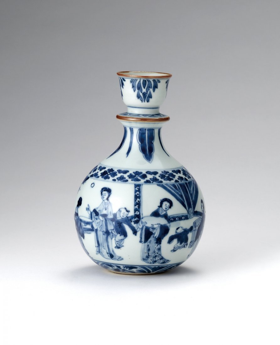 A Blue and White 'Figure' Bottle