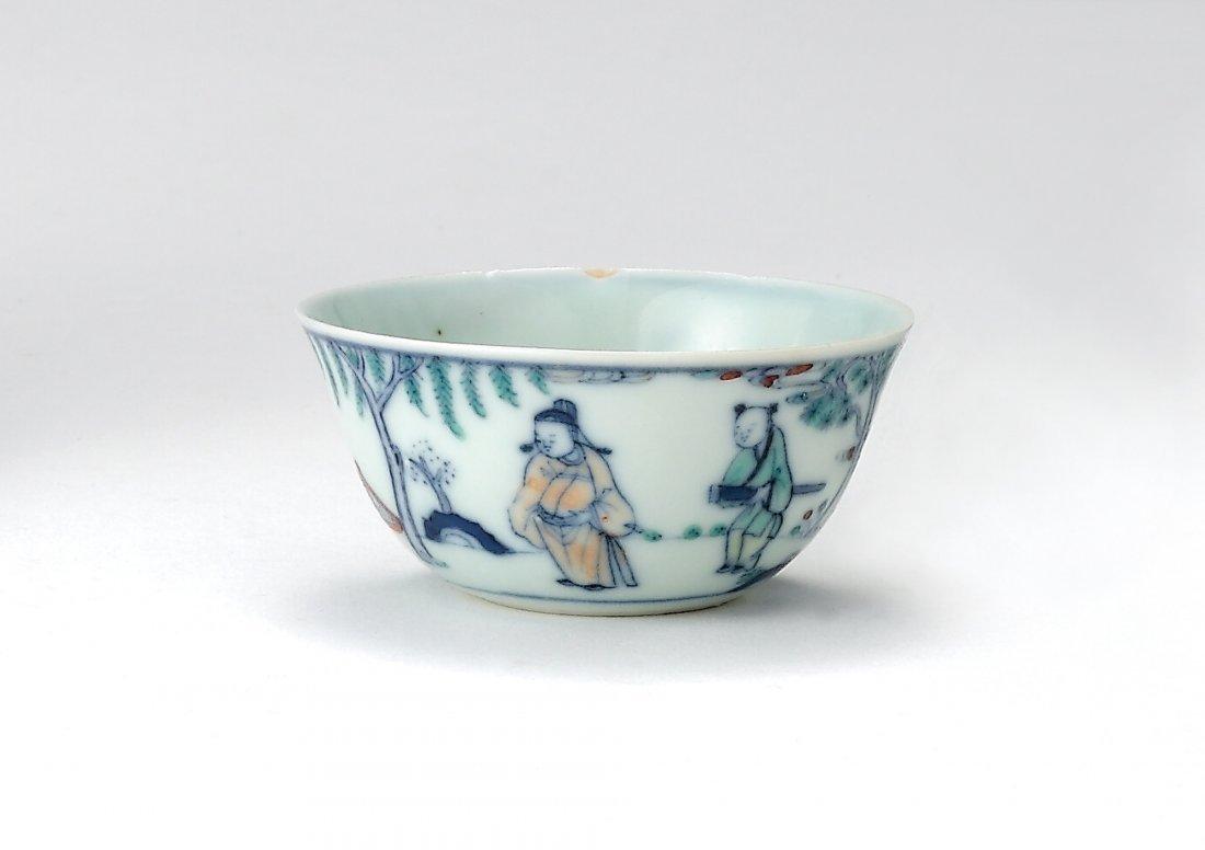 A Doucai 'Landscape and Figure' Bowl