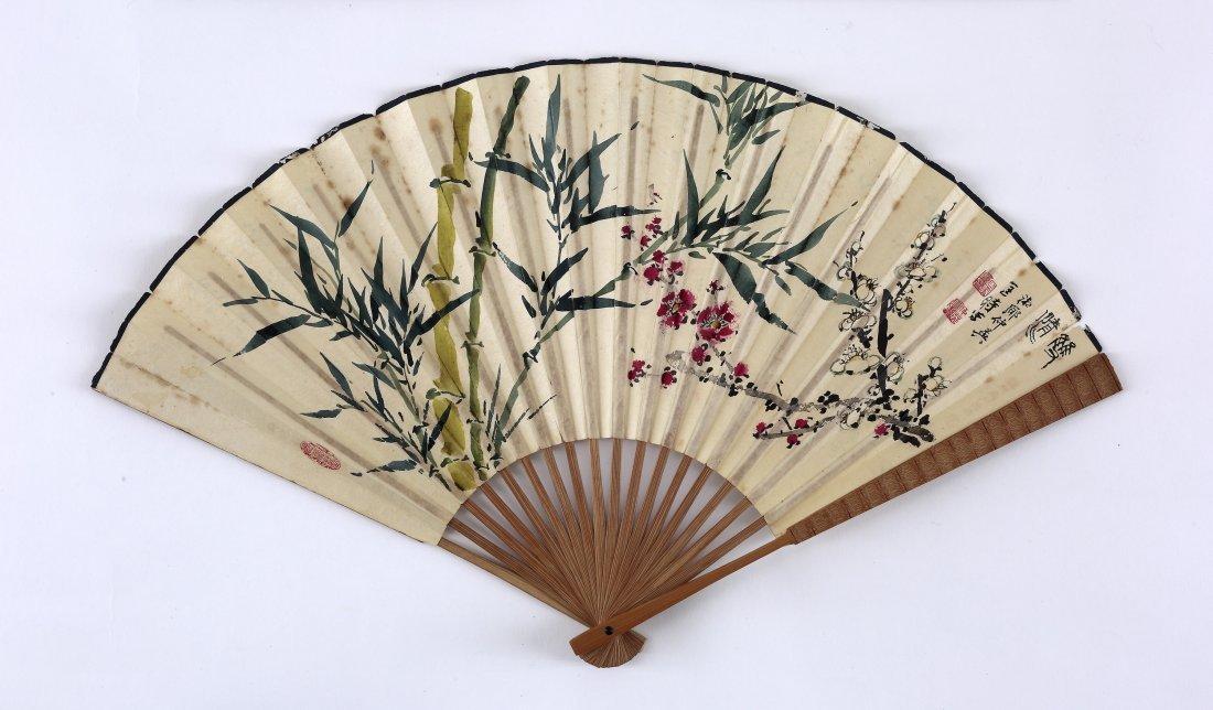 KUANG ZHONGYING(b.1924), BABOOM, ORCHID AND PLUM