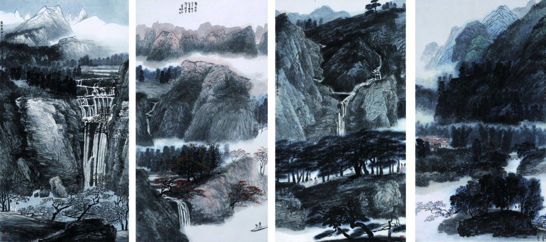 Li Yihong(b. 1941), Scenery of four seasons