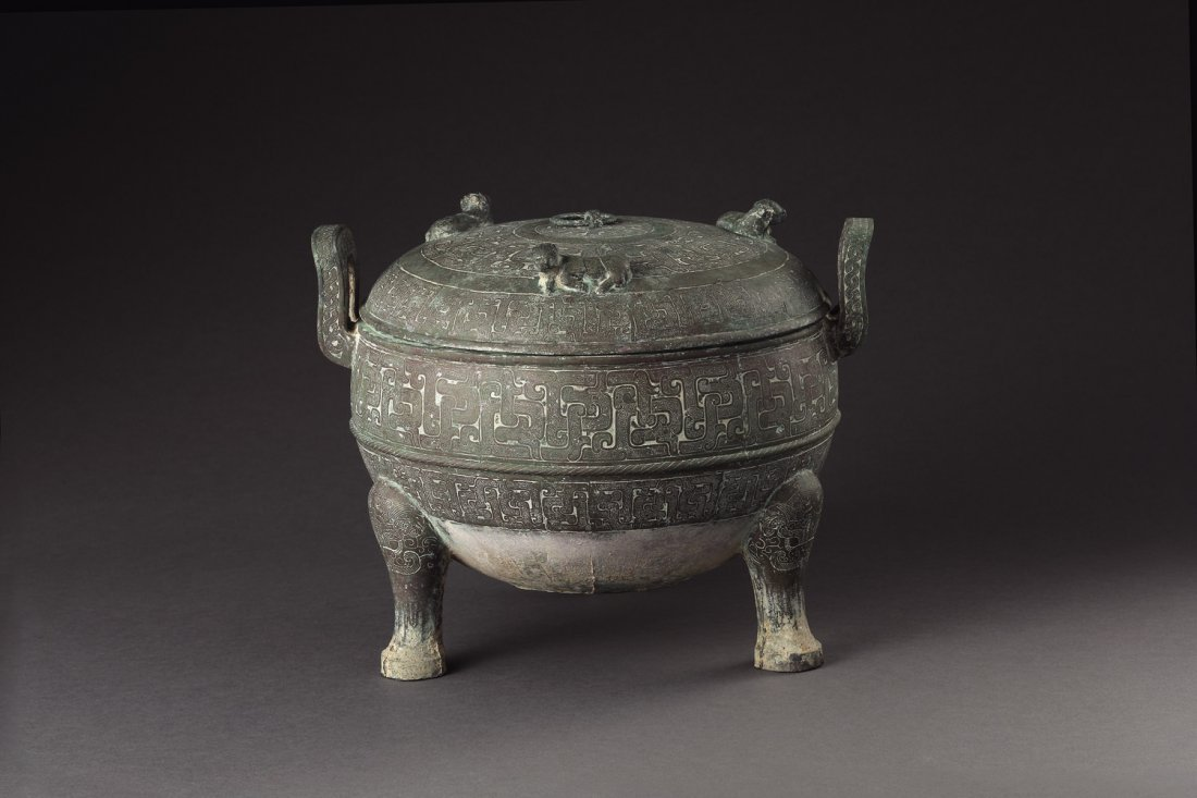 A Spring-And-Autumn Bronze Vessel, Ding