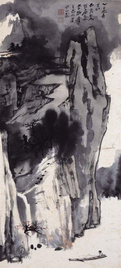 Zhang Daqian(1899~1983), High Cliff And River Landscape