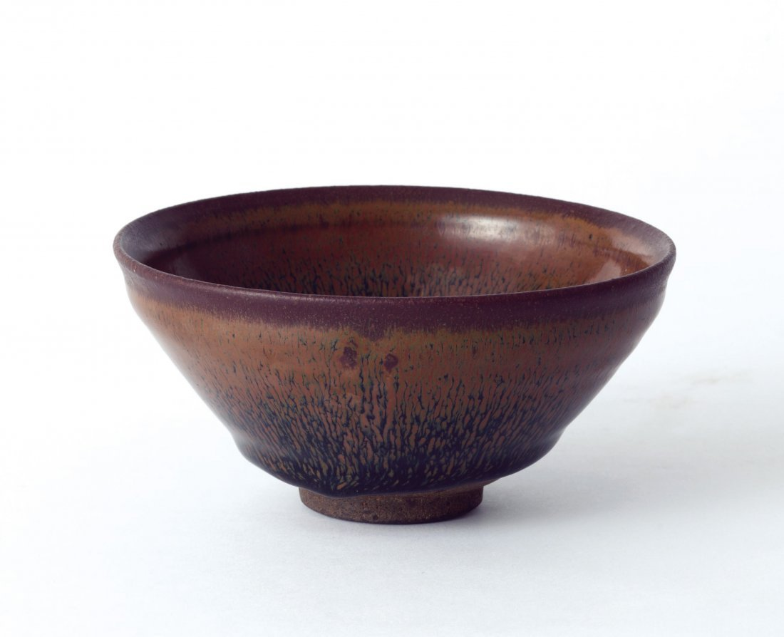 A Black-Glazed 'Hare's Fur' Bowl, Song Dynasty
