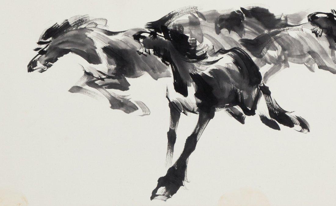 WANG NONG (1926-2013) HORSE - 5
