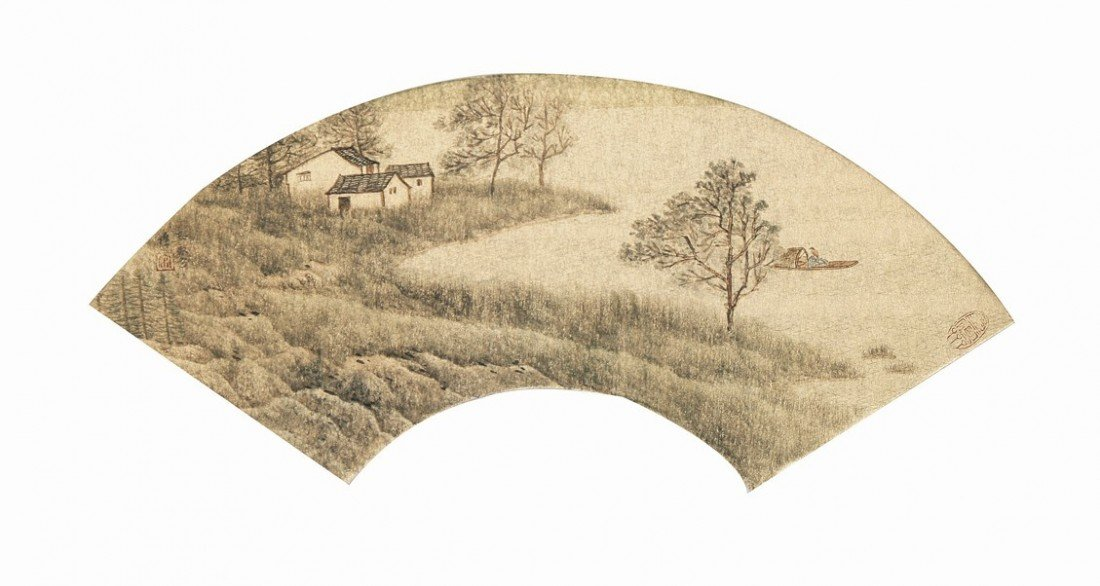 2:Chinese Painting Fan Landscape